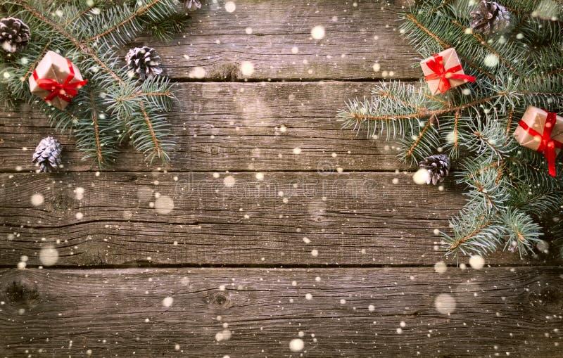 Feliz Año Nuevo y Feliz Navidad Fondo imagen de archivo