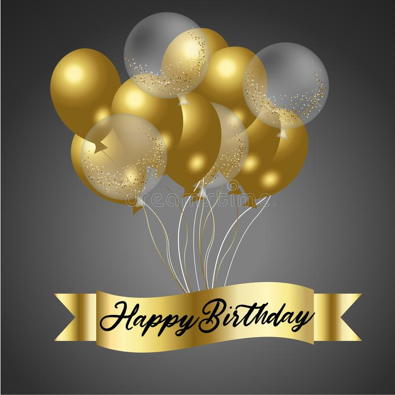 Feliz aniversario com Confetti ilustração royalty free