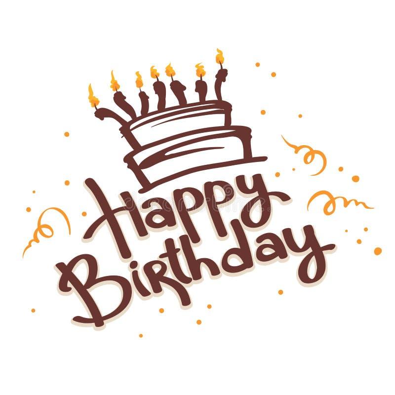 Feliz aniversario da American National Standard do bolo ilustração royalty free