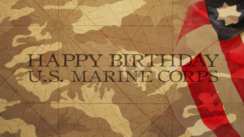 Feliz aniversario E.U. Marine Corps foto de stock royalty free