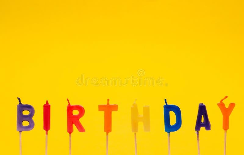 Feliz aniversario isolado foto de stock