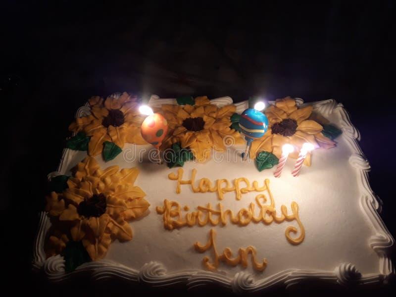 Feliz aniversario Jen fotografia de stock