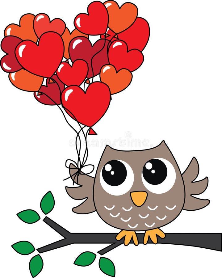 Feliz aniversario ou dia de Valentim ilustração royalty free