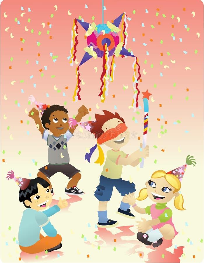 Feliz aniversario - Piñata ilustração royalty free