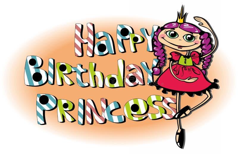 Feliz aniversario, princesa! imagem de stock
