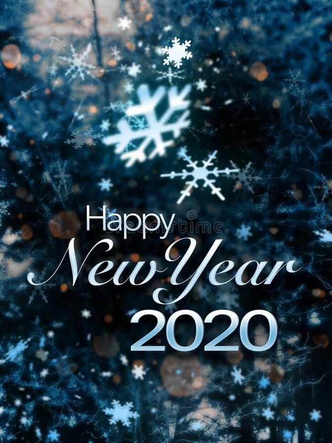 Feliz Ano Novo 2020 imagens de stock royalty free
