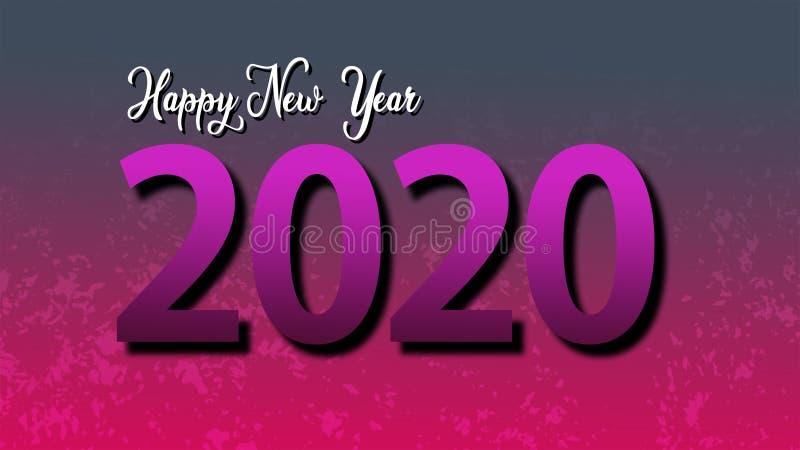 Feliz Ano Novo 2020 Os números em letras cor-de-rosa sobre fundo cor-de-rosa fotos de stock royalty free