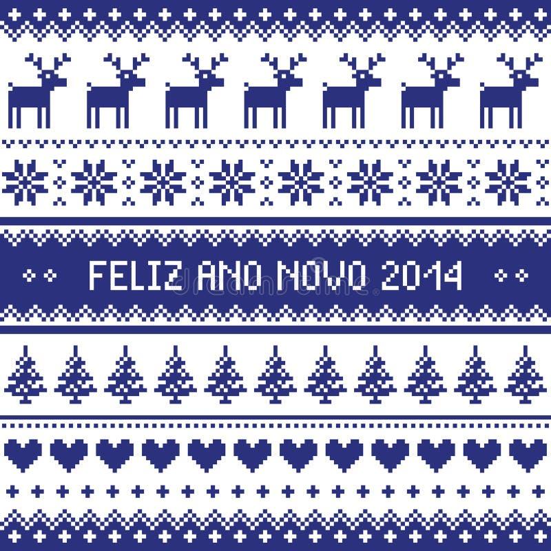 Download Feliz Ano Novo 2014 - Protuguese Happy New Year Pattern Stock Illustration - Image: 35696121