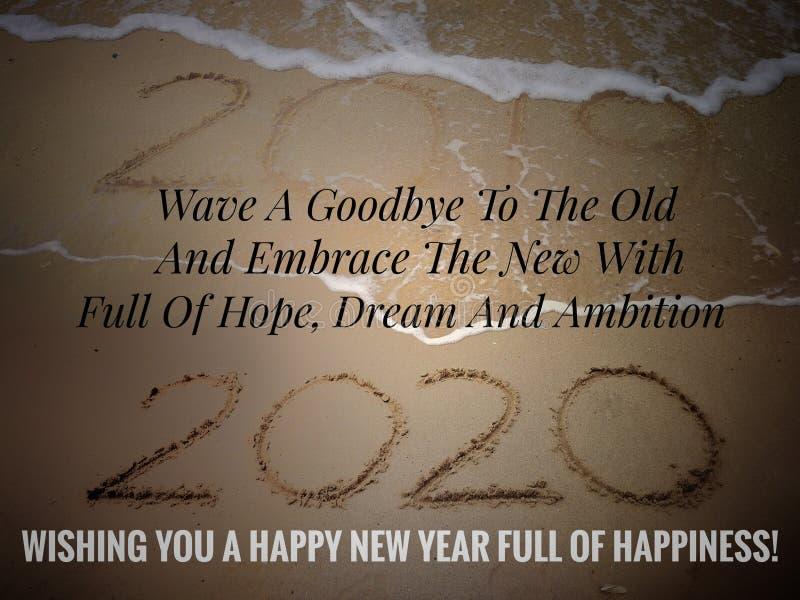 Feliz Ano Novo 2020 foto de stock royalty free