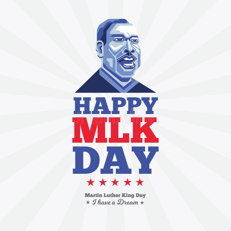 Feliz cartão de boas-vindas a Martin Luther King Day imagem de stock