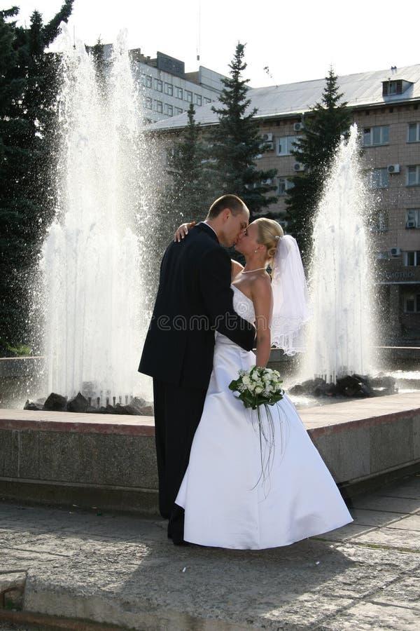 Feliz Casado Foto de Stock Royalty Free