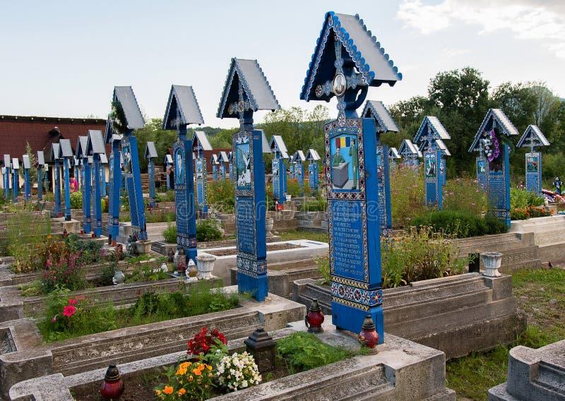 Feliz cementerio en Sapanta, Maramures imágenes de archivo libres de regalías