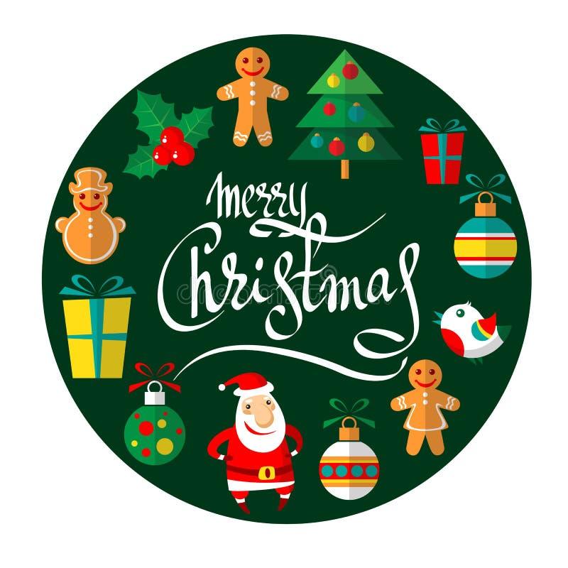Feliz christmas-11 stock de ilustración