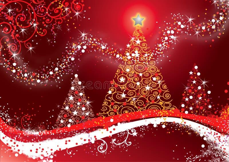 Feliz Christmas_FIN stock de ilustración