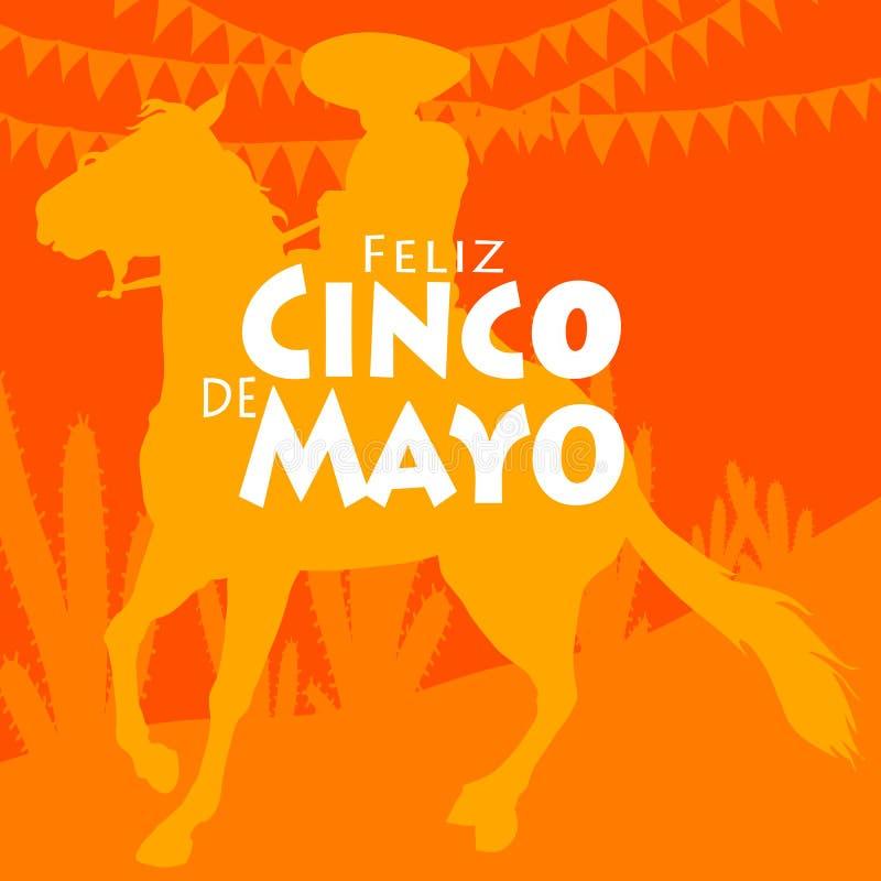 Feliz Cinco de Mayo ilustracja wektor
