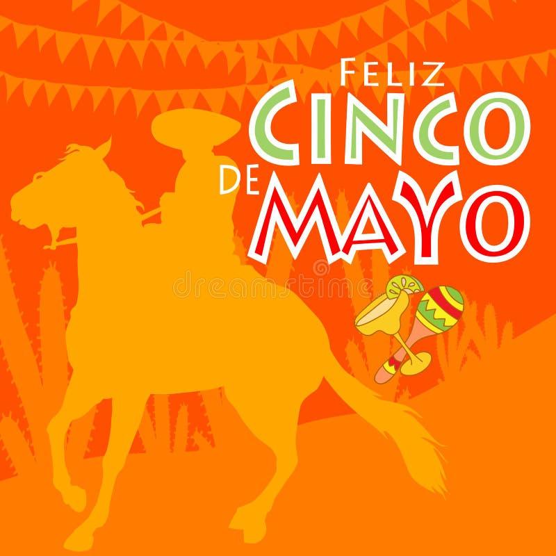 Feliz Cinco de Mayo ilustracji
