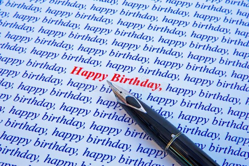 Feliz cumpleaños. imagen de archivo libre de regalías