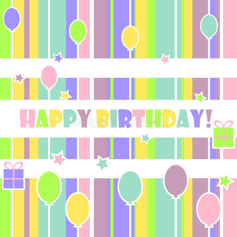 Feliz cumpleaños libre illustration