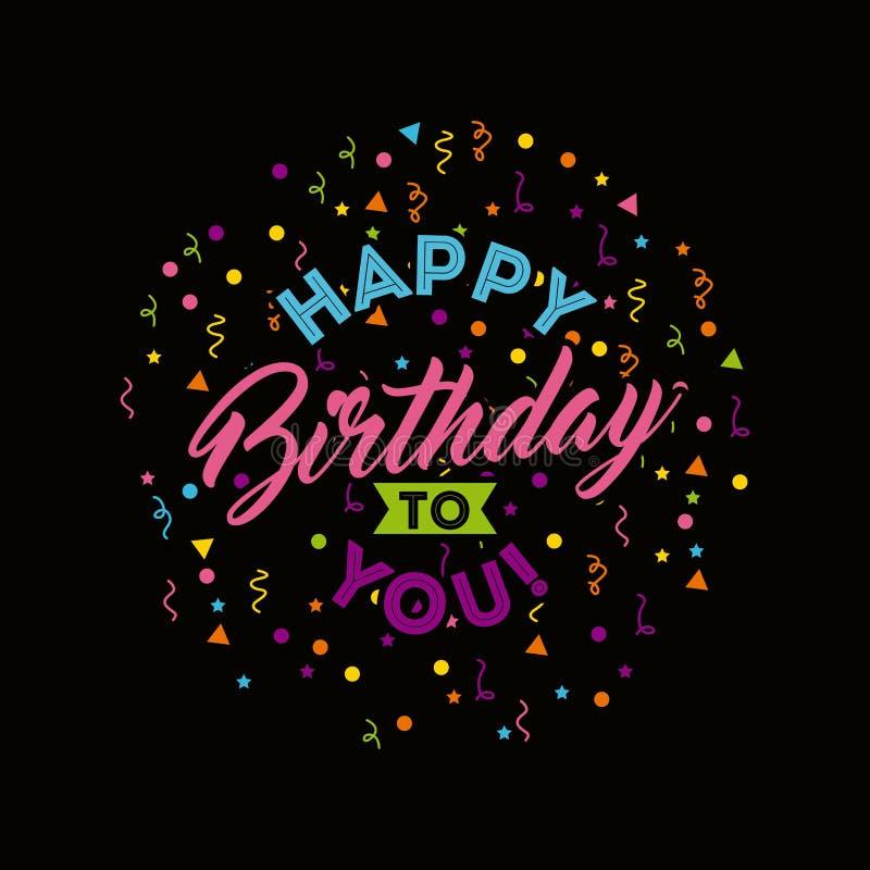 Feliz cumpleaños cartel de la celebración libre illustration