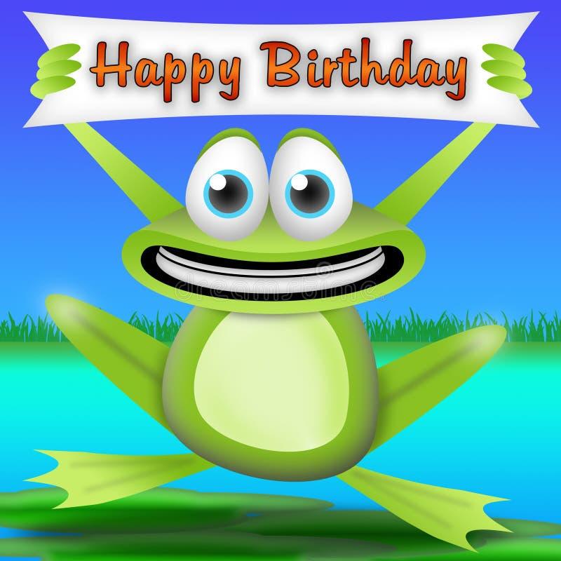 Feliz cumpleaños de la rana libre illustration