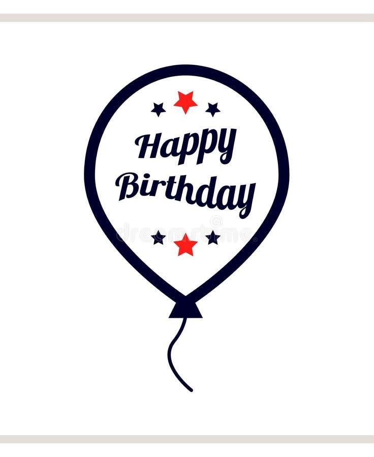 Feliz cumpleaños en globo imagen de archivo