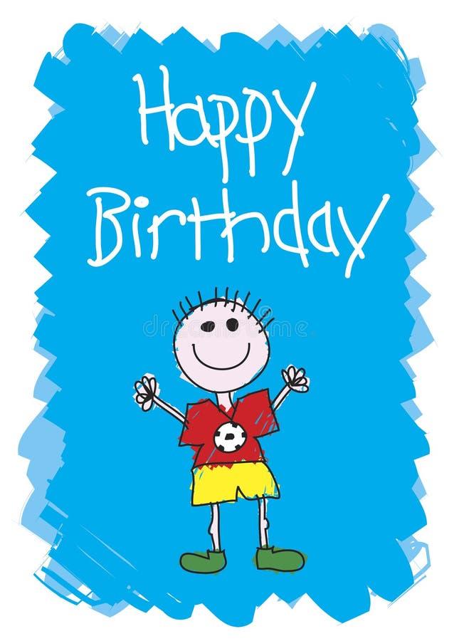 Feliz cumpleaños - muchacho ilustración del vector