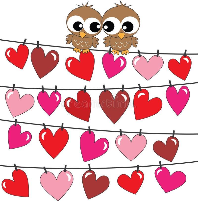 Feliz cumpleaños o día de tarjetas del día de San Valentín ilustración del vector