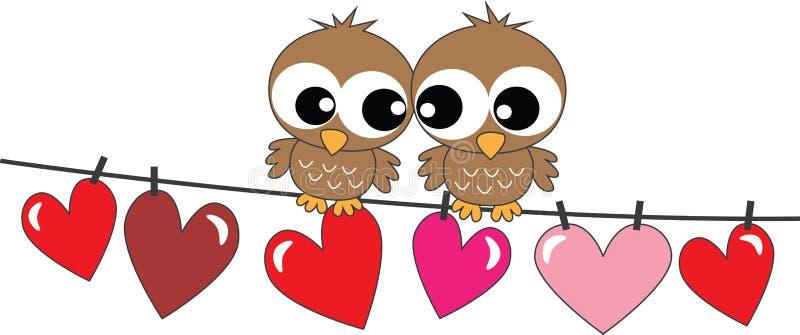 Feliz cumpleaños o día de tarjetas del día de San Valentín stock de ilustración