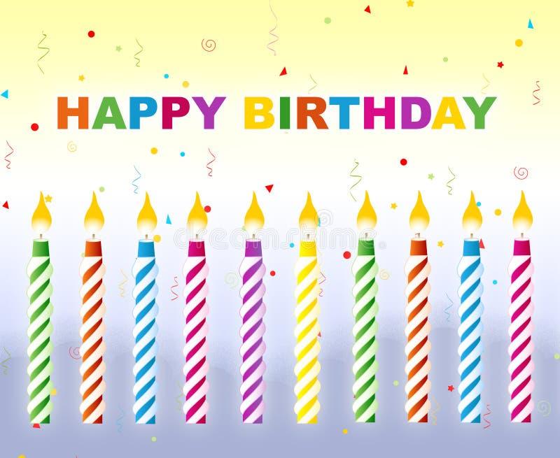 Feliz cumpleaños - tarjeta de felicitación stock de ilustración