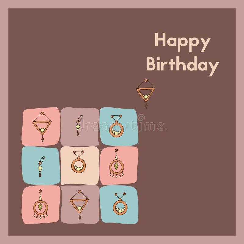 Feliz cumpleaños Tarjeta de felicitación E-tarjeta para un aniversario libre illustration