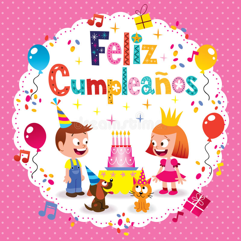 Happy Birthday In Spanish Kids Card