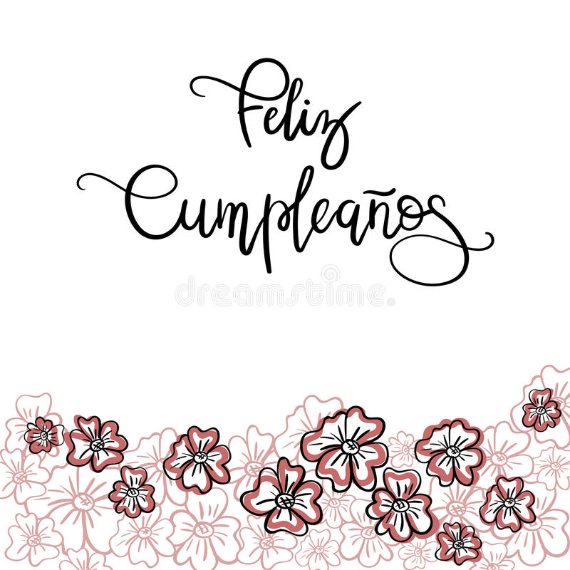 Feliz cumpleanos happy birthday spanish text stock vector download feliz cumpleanos happy birthday spanish text stock vector illustration of floral illustration bookmarktalkfo Choice Image