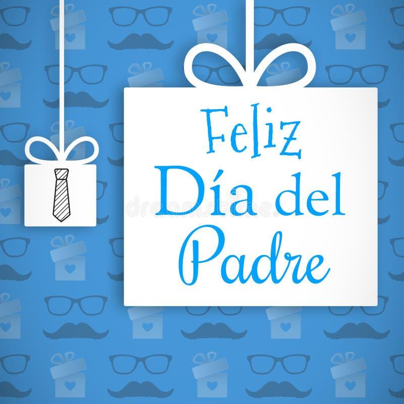 Feliz Dia Del Padre wiadomość ilustracji
