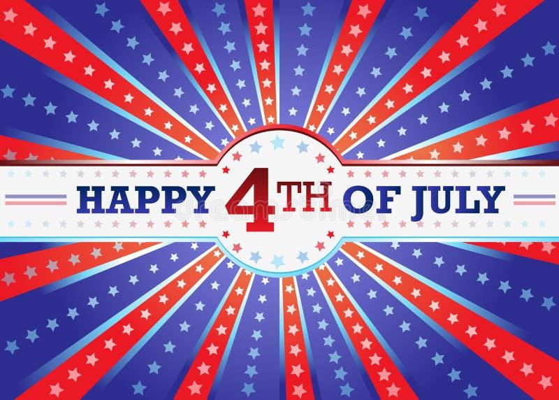 Feliz el 4 de julio libre illustration