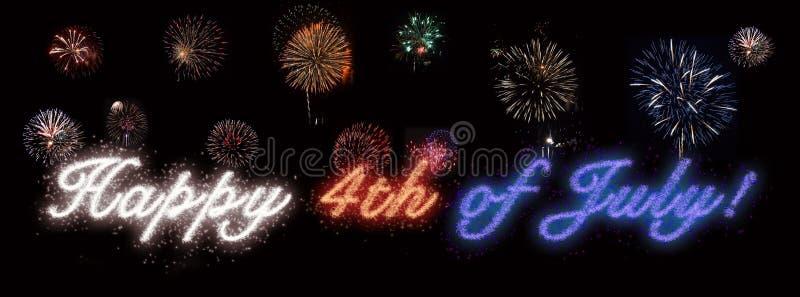 Feliz el 4 de julio, Día de la Independencia imagenes de archivo