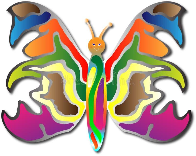 Feliz ela borboleta ilustração royalty free