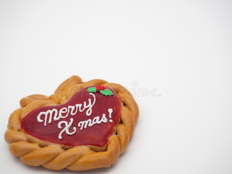 Feliz galleta hecha en casa de Navidad imagen de archivo libre de regalías