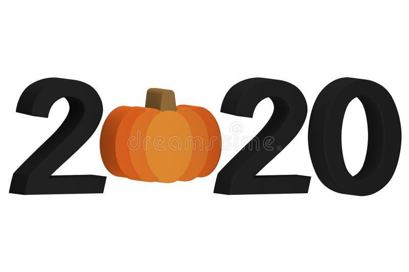 Feliz Halloween 2020 Calabazas De. Halloween Feliz Halloween 2020, Calabaza De Halloween Con Número Aislado En
