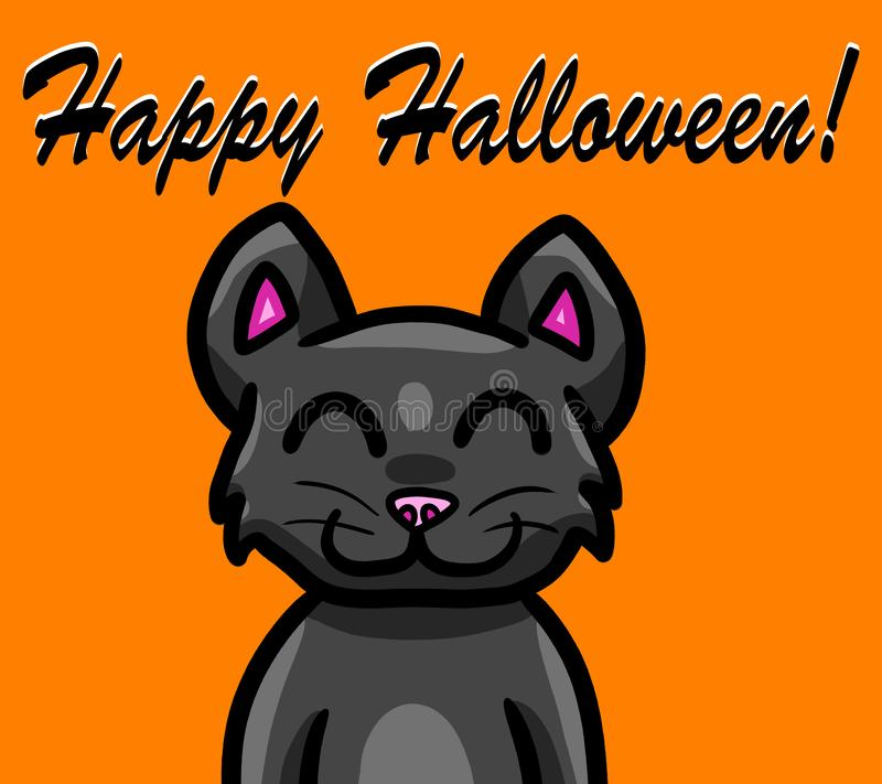 Feliz Halloween Cat Wallpaper negra ilustración del vector