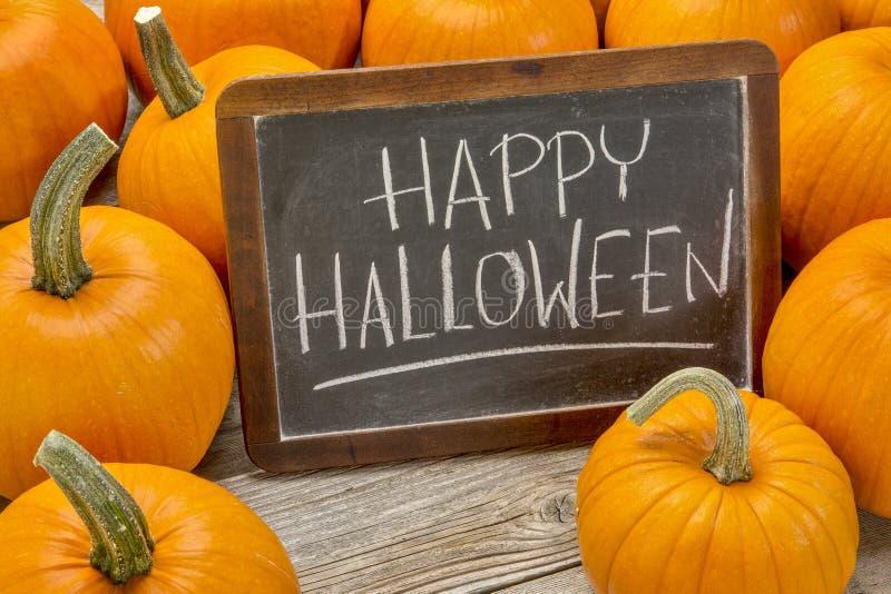 Feliz Halloween con la calabaza imagenes de archivo