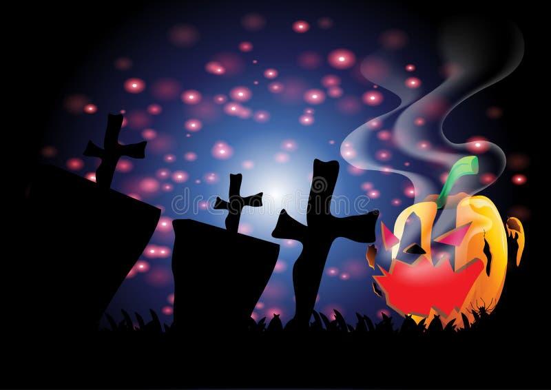 Feliz Halloween con la tarjeta de felicitación fotografía de archivo