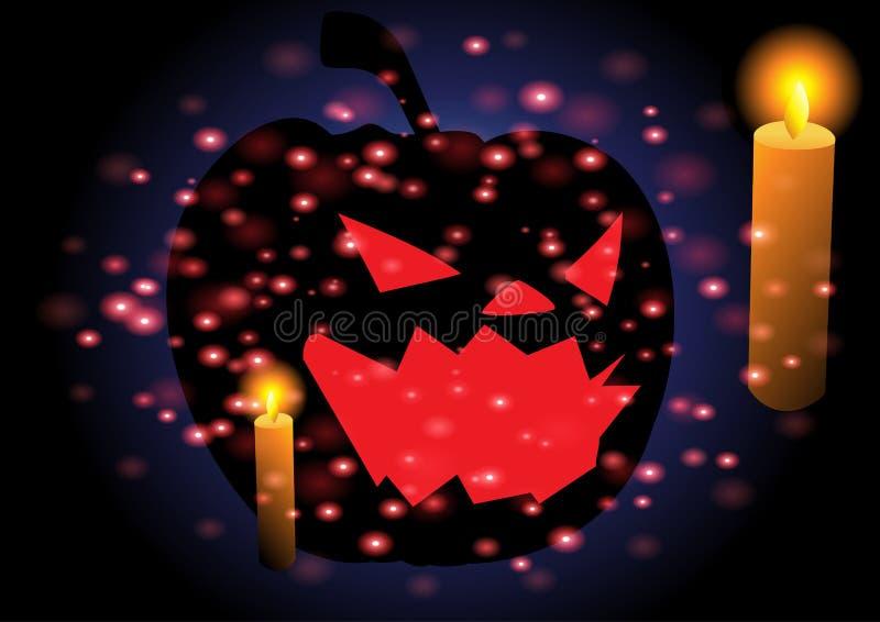 Feliz Halloween con la tarjeta de felicitación imágenes de archivo libres de regalías