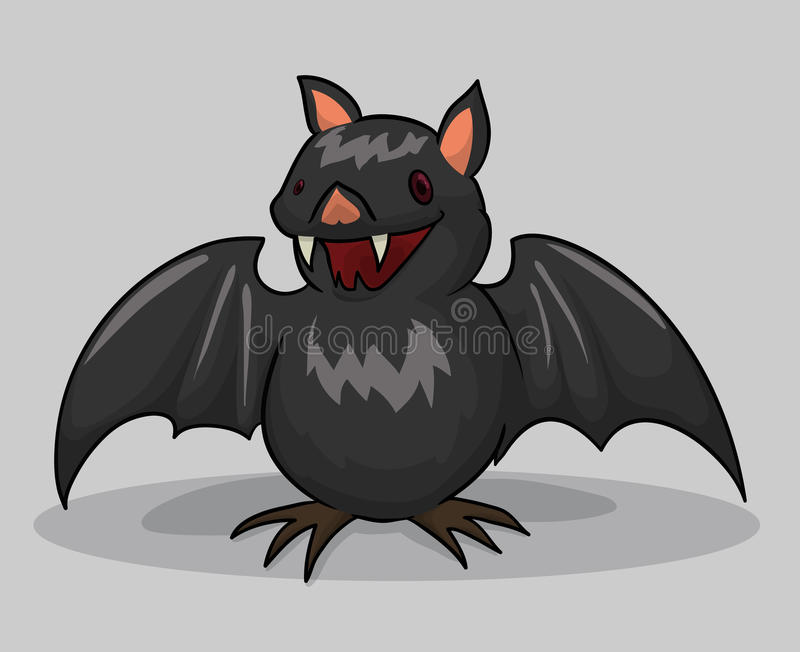 Feliz Halloween Gray Bat, ejemplo del vector stock de ilustración