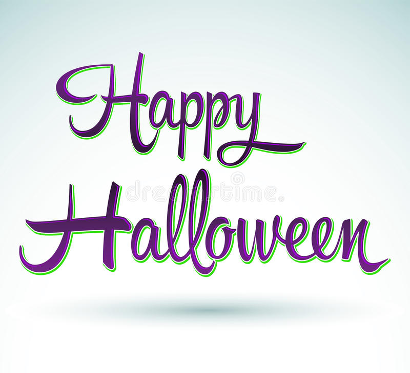 Feliz Halloween - letras stock de ilustración