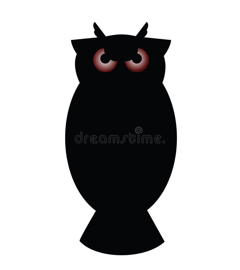 Feliz Halloween Owl Red Eyes stock de ilustración