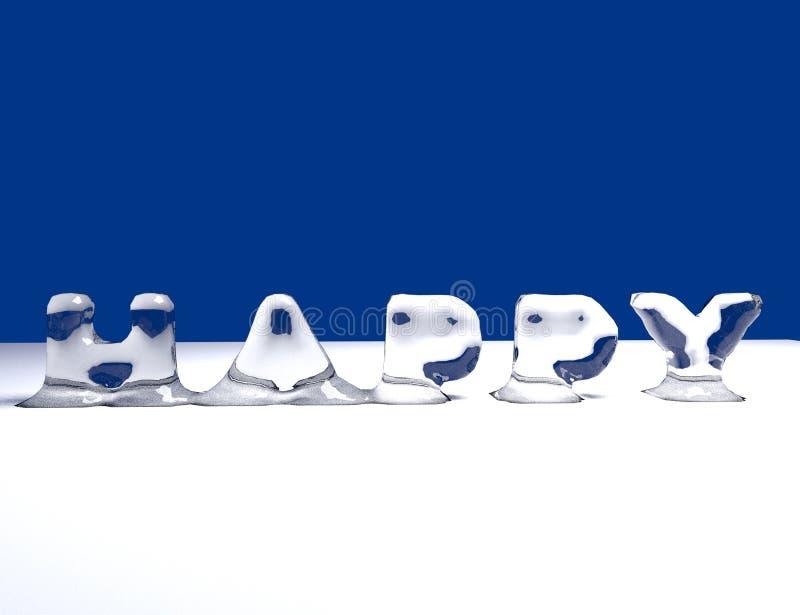 Feliz (hielo) foto de archivo libre de regalías