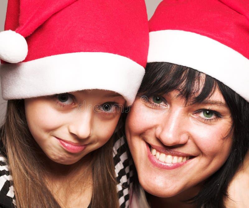 Feliz mãe e filho feliz Natal foto de stock royalty free