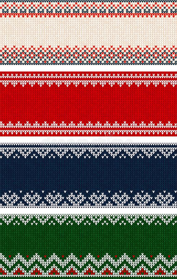 Feliz modelo de la frontera del fondo del ornamento de la fiesta de Navidad del suéter feo ilustración del vector