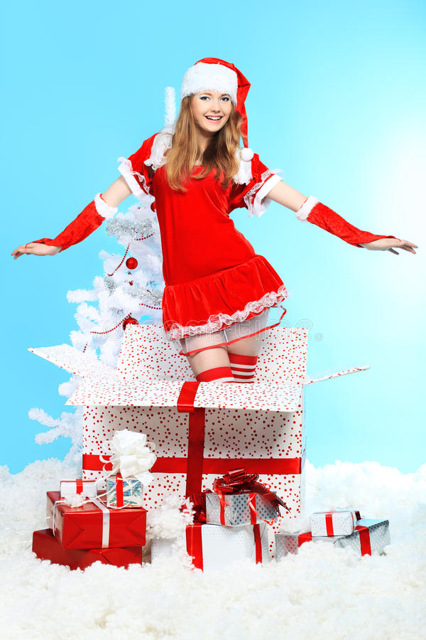 Download Feliz Natal foto de stock. Imagem de bonito, vestido - 16860168