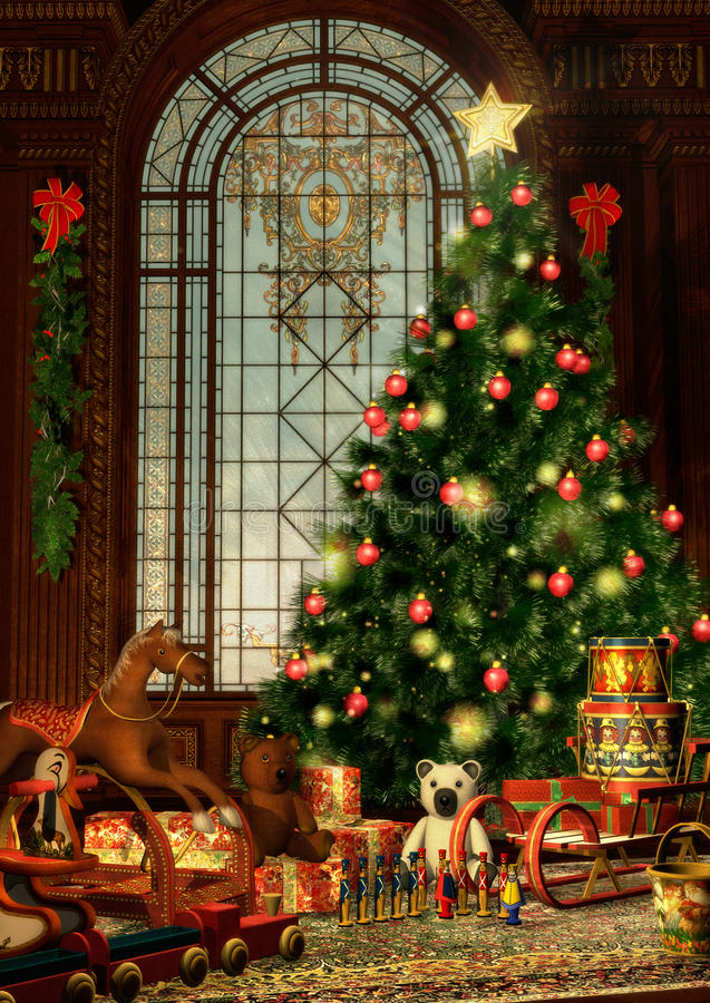 Feliz Natal ilustração royalty free